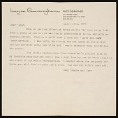 view Imogen Cunningham, San Francisco, Calif. letter to Janet Partridge digital asset number 1