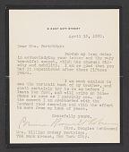 view Corinne Roosevelt Robinson letter to Margaret Schott digital asset: front