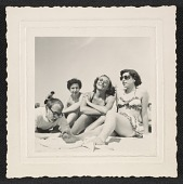 view Andy Warhol, Dorothy Cantor, Corinne Kessler and Leah Cantor on Fire Island Beach digital asset number 1