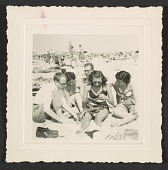 view Andy Warhol, Dorothy Cantor, Philip Pearlstein and Leah Cantor at Fire Island Beach digital asset number 1