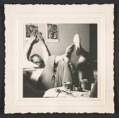 view Photograph of Andy Warhol and George Klauber at 21 St., New York digital asset number 1