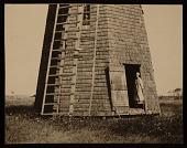 view Agnes Pelton standing outside her windmill studio digital asset number 1