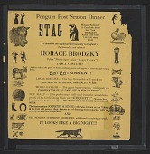 view Flyer for a stag party given by the Penguin Club honoring Horace Brodzky digital asset number 1