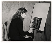 view Photograph of Marjory Morse painting digital asset number 1