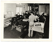 view Photograph of workers in a print shop for the WPA in Los Angeles digital asset number 1