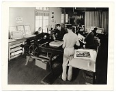 view Workers in a print shop for the WPA in Los Angeles digital asset number 1