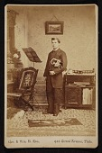 view John Frederick Peto at age 25 in a music lesson digital asset number 1
