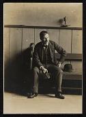 view John Frederick Peto, sitting on bench digital asset number 1