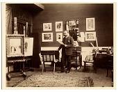 view Jean Beraud in his studio digital asset number 1