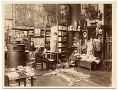 view Gustave Boulanger in his studio sketching digital asset number 1