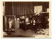 view Jules Lefebvre and others in his studio digital asset number 1