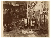 view Georges Rochegrosse in his studio, painting digital asset number 1