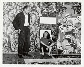 view Jackson Pollock and Lee Krasner in front of his work digital asset number 1