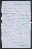view Shozo Shimamoto, Japan letter to Jackson Pollock, East Hampton, N.Y. digital asset number 1
