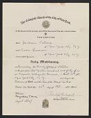 view Jackson Pollock and Lee Krasner marriage certificate digital asset number 1