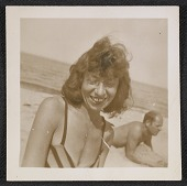 view Lee Krasner and Jackson Pollock on the beach digital asset number 1