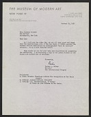 view Porter A. McCray letter to Lee Krasner digital asset number 1