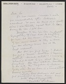 view Martha Jackson letter to Lee Krasner digital asset number 1
