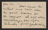 view Jackson Pollock postcard to Lee Krasner digital asset number 1