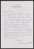 view Lee Krasner letter to Philip Pavia digital asset number 1