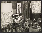 view Jackson Pollock in the doorway of his studio digital asset number 1