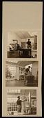 view Series of photographs of Fairfield Porter working in his Southampton studio digital asset number 1