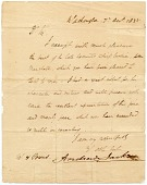 view Andrew Jackson letter to Hiram Powers digital asset number 1
