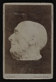 view Cabinet card of Hiram Powers death mask digital asset number 1