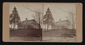 view Stereocard of Hiram Power's childhood home, Woodstock, Vermont digital asset number 1