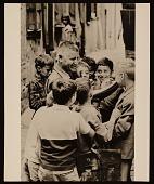view Josef Presser with school children in Chartres, France digital asset number 1