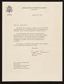 view Carl T. Rowan, Washington, D.C. letter to Lessing J. (Lessing Julius) Rosenwald, New York, N.Y. digital asset number 1