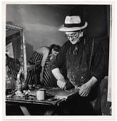 view Earl Kerkam painting in his studio digital asset number 1