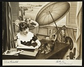 view Photograph of Edna Reindel with her cat, Dozy digital asset number 1