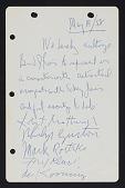 view Handwritten contract with Bernard J. Reis digital asset number 1