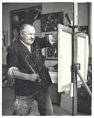 view Hans Hofmann at work in his studio digital asset number 1