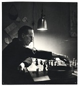 view Marcel Duchamp playing chess in his studio digital asset number 1