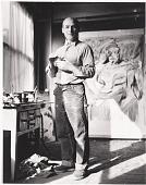 view Willem de Kooning at work in his studio digital asset number 1