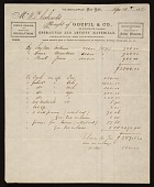 view Receipt for items purchased by William Trost Richards digital asset number 1