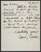 view Alexander Calder letter to Andrew Carnduff Ritchie digital asset number 1