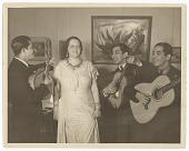 view Alma Reed serenaded by los Hermanos Hernadez digital asset number 1