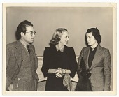 view Photograph of Enrique Riveron, Sally Eilers, and unidentified woman digital asset number 1