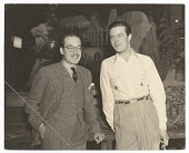 view Photograph of Enrique Riverón and Ray Milland in Hollywood, California digital asset number 1
