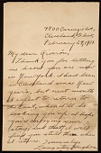 view Langston Hughes, Cleveland, Ohio letter to Enrique Riverón, New York, N.Y. digital asset number 1