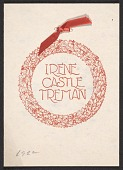 view Irene Castle Treman Christmas card to Mary Fanton Roberts digital asset number 1