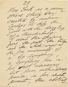 view Page of a manuscript believed to have been written by Joseph Stella digital asset number 1