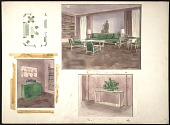 view Strauss residence living room design sketches digital asset number 1
