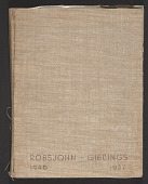 view Scrapbook of materials pertaining to T.H. Robsjohn-Gibbings' work digital asset: cover
