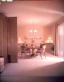 view Goulandris dining room designed by T.H. Robsjohn-Gibbings digital asset number 1