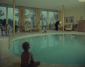 view Indoor swimming pool in the residence of Josephine Herbert Graf and Bruno K. Graf, Dallas digital asset number 1