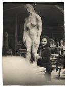 view Esther Rolick with sculpture digital asset number 1
